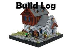 Gardar's Cloth Goods: Build Log (-soccerkid6) Tags: lego moc creation build log medieval house process commentary brickbuilt shop building
