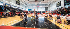 Jonathan Strome - 2019 02 17 Wheelchair Basketball (JTStrome) Tags: wheelchair basketball gwh gym sport athlete athletes action wide angle court team play