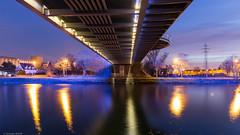 sous les ponts... (Christophe Michler) Tags: strasbourg night nightphoto urbain urban cityscape city