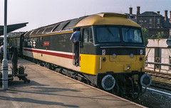 47620_Shrewsbury_04_07_87 (chrisbe71) Tags: 47620 47070 47835 47799 d1654 brush sulzer spoon duff br shrewsbury 1v09 class47 britishrail intercity type4 brushtype4