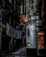 """Hard Street"" (giannipaoloziliani) Tags: extreme flickr narrowstreets vicoli vicolidigenova alleys italy blackstreet colors hardstreet ruins discarded buio hdr obscurity periphery alleysofgenoa genova genoa streettrash apocalypse suburbs dark darkness hard iphonephotography iphone streetphotography decay"
