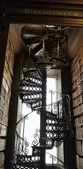 Beautiful Long Room in Trinity Library (MargrietPurmerend) Tags: trinity library bookofkells dublin ireland stairs spiral