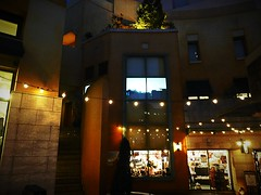 (Human-Faced Bun & Honey Pudding) Tags: architecture italian style district light glass steps stairs shot night