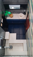 Shallow-Water House MOC. Bathroom from above. (betweenbrickwalls) Tags: legos bathroom interior interiordecor design layout dreamhome modernliving