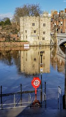 Flooded River Ouse, York, March 2019 - 6 (nican45) Tags: weather building bridge waterway ouse samsung light blue flood galaxys8 march museumgardens reflection mobilephone lendalbridge 18032019 yorkshire 2019 york river 18march2019 riverouse smg950f flooding floods england unitedkingdom gb