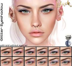 [LeLuck]Glitter Eyeshadow (Sunkora) Tags: secondlife event harajuku eyeshadow applier catwa genus leluck glitter set
