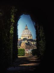 Through the keyhole (seantindale) Tags: stpeters basilica saintpetetersbaslilica secret view keyhole rome olympus omdem5markii travel europe italy city hdr explore