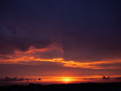 Clouds (_Veronika95_) Tags: sunset tramonto orange violet casarano puglia salento italy clouds nubi sun sole blue light sky cielo paesaggio skyscape