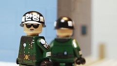 Lego South Korean DMZ MP Guards (Force Movies Productions) Tags: war eastern rifles toy toys trooper troop troops troopers youtube photograpgh photo photograph picture pose photography animation asia army asian soldier stopmotion scene film helmet helmets history korean dmz lego legophotograghy legophotography custom conflict un united nation bricks brickfilm brickarms brickizimo brick brickmania nationalist nations minfig minifig minifigure minifigs military moc movie