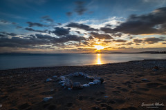 Palaio Faliro Sunset (Epaminondas M) Tags: canon5d nd500 horizon seaside city water palaiofaliro photography sunset sun sky sea rock view beach canon landscape seacoast seascape cloud cloudporn