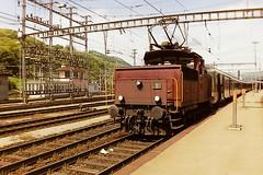 SBB 16560 (bobbyblack51) Tags: sbb class ee33iv slm saas c electric shunter 16560 chiasso station 1994