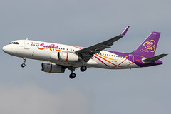 Thai Smile (maidensphotography) Tags: planespotter airport airways airlines airline aircraft aviation thailand bangkok suvarnabhumi planespotting canon camera dslr flicker flickr landings travel airliners 7d photography