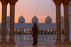 Woman-sunset-gazing-under-Grand-Mosque-closeup.jpg (yobelprize) Tags: illuminate east sunsetsky yobelmuchang sheikh tourist emirates abayafashion religious united abudhabi worship islam muslim zayed sunset architecture dome nightphotography abaya temple traditional abu famous redpurse domes dhabi grand robes culture landmark reflections pillars gold silhouette reflection middle islamic religion longexposure blue hood uae mosque jedi yobel symmetry illuminated grandmosque arabic abayawoman arab arches