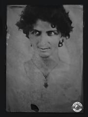 Hub (LA CAGE AUX FAUVES) Tags: vintage oldpict ambrotype ferrotype portrait nb collodion
