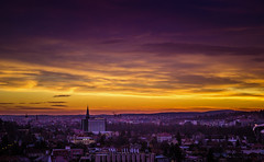 Morning moments (Pan.Ioan) Tags: city cityscape urban town architecture morning sunrise sky clouds orange horizon