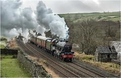 45596. Helwith Bridge. (Alan Burkwood) Tags: sc helwithbridge lms stanier 6p jubilee 45596 bahamas 1z59 kwvrcarlisle steam locomotive passenger train