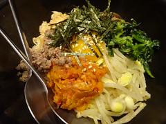 Stone-Roasted Bibimbap @Yakiniku-Daigo, Tokyo (Phreddie) Tags: wagyu beef meat yakiniku bbq japanese korean food delicious restaurant tokyo japan happy dinner