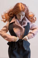 Phicen/TBLeague S25B Clothing Tests (edwicks_toybox) Tags: 16scale gactoys s25 tbleague businesssuit femaleactionfigure jacket phicen poptoys redhead seamlessbody shirt skirt