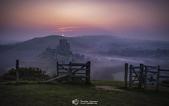 First Dawn (Chris Lawrence Photos) Tags: sunrise corfe castle dorset fuji mirrorless early morning