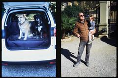_RAK9724 (Daniele Pisani) Tags: olympus pen velvia50 costanza susanna baby sitter neve cani lea dylan macchina giardino half frame nonno guido