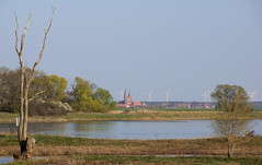 The river Elbe and the town Jerichow in the distance (WeatherMaker) Tags: sachsenanhalt saxonyanhalt altmarkt tangermünde elbe germany