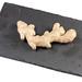 Fresh Ginger on the black stone tray