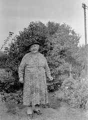 Woman in the garden (vintage ladies) Tags: vintage blackandwhite photograph photo people female woman lady eoshe hat dress mature