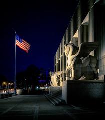 St. Louis Soldiers Memorial 1 (Michael Shoop) Tags: michaelshoop stlouis saintlouis missouri usa canon canon7dmarkii warmemorial artdeco night statue wwi worldwar1