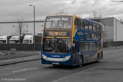 Colour Splash Magic! (Mike McNiven) Tags: stagecoach manchester magicbus sharston sharstonroad depot wythenshawe alexanderdennis enviro400 coloursplash colour splash blue yellow magic