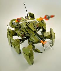 Mantis Preview TEST (Slick_Bricks) Tags: lego mecha wip rarecolor portlug bricks mech robot afol moc