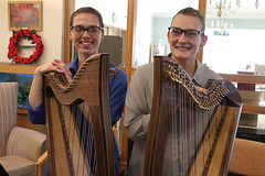 2 of Harps 1660 (Tony Withers photography) Tags: musicians harpists duo adel karina wilson music