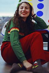 Dani, 2018 (TheJennire) Tags: photography fotografia foto photo canon camera camara colours colores cores light luz young tumblr indie teen adolescentcontent toronto fashion canada 2018 people portrait smile happy fun makeup stripes mickeymouse 90s
