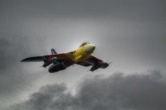 Hawker Hunter G-PSST (nigdawphotography) Tags: hawkerhunter jet aircraft airplane fighter bomber raf british takeoff outdoor plane aeroplane missdemeanour