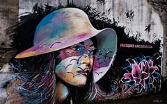 Fresque rue de Brest à Morlaix (mikiiiiderrien) Tags: brittany mur wall woman streetart artderue finistère morlaix tag peinture femme art fresque
