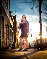 Epic (joshhansenmillenium) Tags: canon6d 6d canon photography modelling sunset kentucky ludlow freelance model street bw contrast clouds sky spring portrait