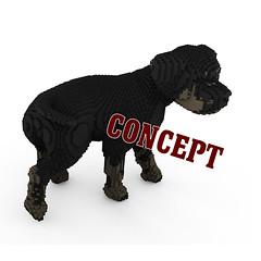 Rottweiler Puppy (BrickFabrik) Tags: lego rottweiler dog legodog legoanimal puppy