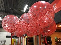 Confetti ballonnen met helium