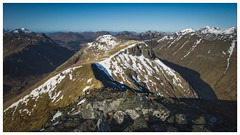 Buachaille etive mor ridge. (alananderson43) Tags: buachailleetivemor buachaille stobnadoire hill scottishhills highlands hiking scottishhighlands glencoe glenetive scottishlandscape scotland argyle stobcoirealtruim stobnabroige morning sony18105 sony sonya6000 uk a6000 18105 18105mm mountain mountains snow hillwalking