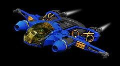 LL-109 Exploration Craft (Inthert) Tags: lego space classic ship craft blue fly