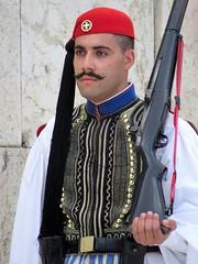 athens (gerben more) Tags: guard moustache man rifle athene athens greece people portrait portret uniform