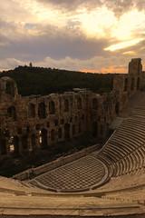 Acropole VII - Théâtre d'Hérode Atticus (Julien JUBIN) Tags: grece hellas athenes couchersoleil sunset théâtre pierre