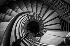 Abstract detail of a spiral staircase in black and white colour (MongkolChuewong) Tags: abstract aircraft airplane ancient architecture art background beautiful black blades building circle circular city closeup concept concrete construction design down europe fractal gallery granite hypnosis industrial industry modern museum old pattern perspective production rome spiral stair staircase stairs stairway step steps stone structure technology texture travel turbine up vatican white
