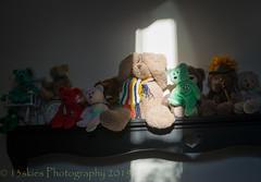 Light Bright (HTBT) (13skies) Tags: lightbright teddybeartuesday shelf livingroom tvroom happyteddybeartuesday tv bears assortedbears sonyalpha99 helping sit many teddybear keswick