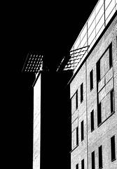 Abstract Erect (judepics) Tags: guys london monochrome blackwhite building architecture southbank hospital brick