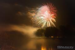 Feux de la Saint-Jean 2018 (guysamsonphoto) Tags: guysamson fireworks feuxdartifice nuit nient réflection brouillard luminar3 aurorahdrpro victoriaville