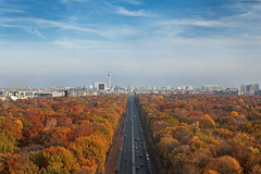 colorful autumn in Berlin (Qba from Poland / qmphotostudio) Tags: qbafrompoland qba qmphotostudio qbaphoto germany berlin city cityscape berlinerfernsehturm brandenburgertor architecture tower townscape autumn colorful colors street fromabove