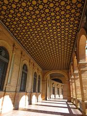 Colonnade, Plaza de España, Seville, Spain (geoff-inOz) Tags: seville architecture heritage andalusia historic colonnade spain building plazadeespaña ceiling