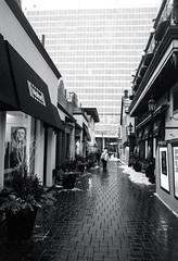 Yorkville Alley Cleared Out (Bill Smith1) Tags: believeinfilm billsmithsphotography canonnewf1 fdn28f28lens hc110b heyfsc kodaktrix4001600 toronto 28mmchallenge bcpool