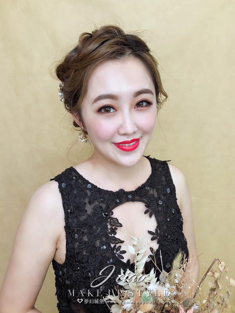 【新秘婕喬】新娘造型創作 / 甜美盤髮