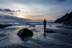 Watching (Dom Haughton) Tags: selfie selfportrait sea seascape seashore atlantic water sand rinsey rinseyhead cove bluehour rocks sky beach cornwall 80d canon80d peaceful lonely lone emptiness empty evening winter january